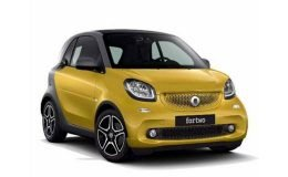 SMART FORTWO 90 0.9 66kw Turbo Prime Twinamic gialla fronte