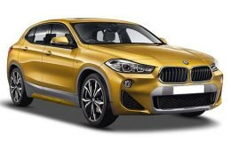 bmw x2 gialla fronte