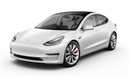 Tesla Model 3 White 2019 Long Range Petrolini Rent