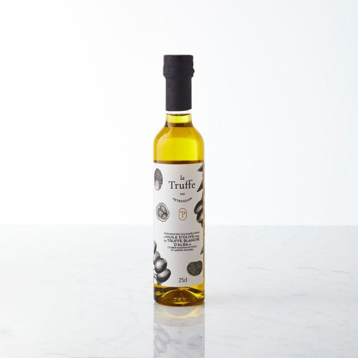 preparation huile d olive truffe blanche