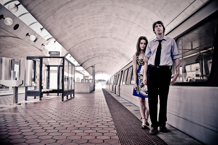 Engagement Session on the DC Metro