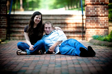 Couple laying in path at UMD college park