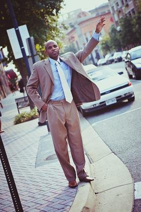 man calling for cab in arlington va