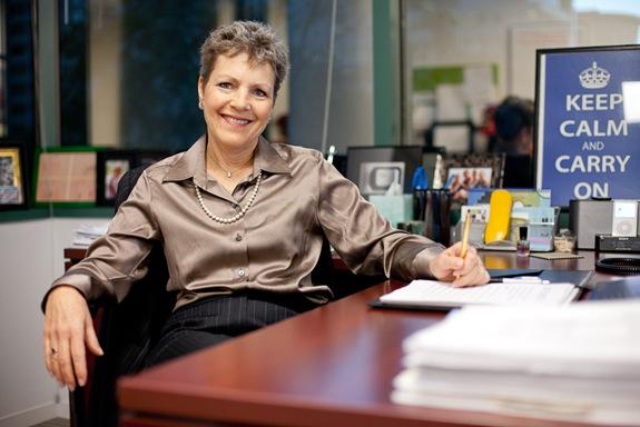 woman sitting in office in fairfax va
