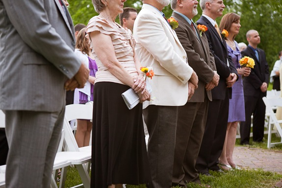 family at wedding ceremony at Mt. Airy Mansion in Upper Marlboro Maryland