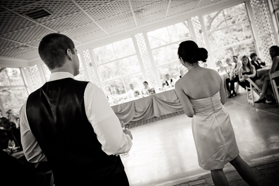 best man and maid of honor giving toast at Mt. Airy Mansion in Upper Marlboro Maryland