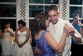 groom dancing with mother at Mt. Airy Mansion in Upper Marlboro Maryland
