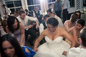 bride dancing at Mt. Airy Mansion in Upper Marlboro Maryland