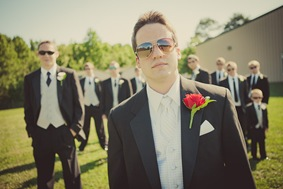 grooms wedding party in Mechanicsville MD