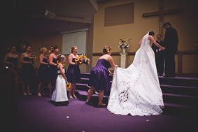 bride walking up to alter at Annapolis EP