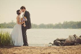 bride and groom together in Annapolis MD
