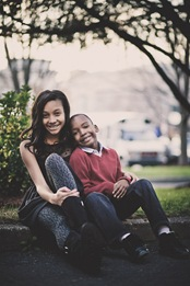 Siblings Portraits in Downtown Silver Spring, MD