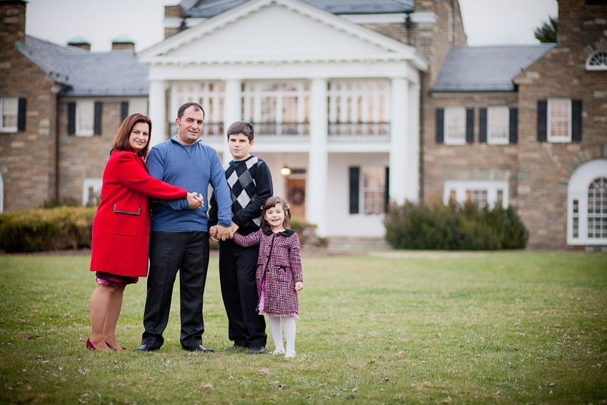 Family Portraits at the Glenview Mansion in Rockville, MD