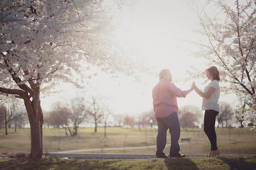Jeff & Heather Being Romantic at Patterson Park in Baltimore, MD