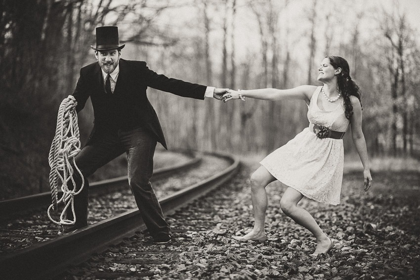 Austin & Chelsea Get Villainous (and Heroic) for the Engagement Photos in Bowie MD