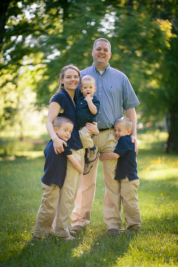 Cute family at Wheaton Regional Park in Wheaton Maryland