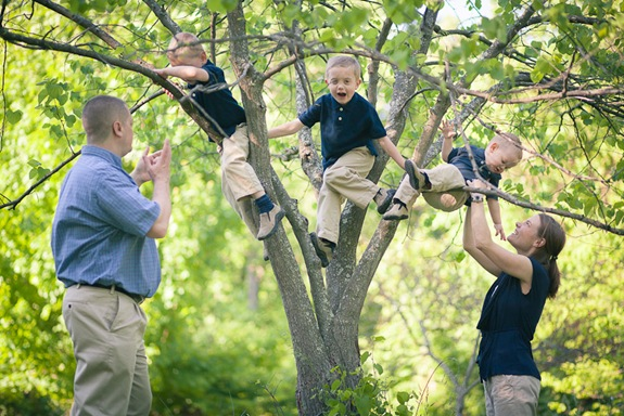 Cute family at Wheaton Regional Park in Wheaton Maryland