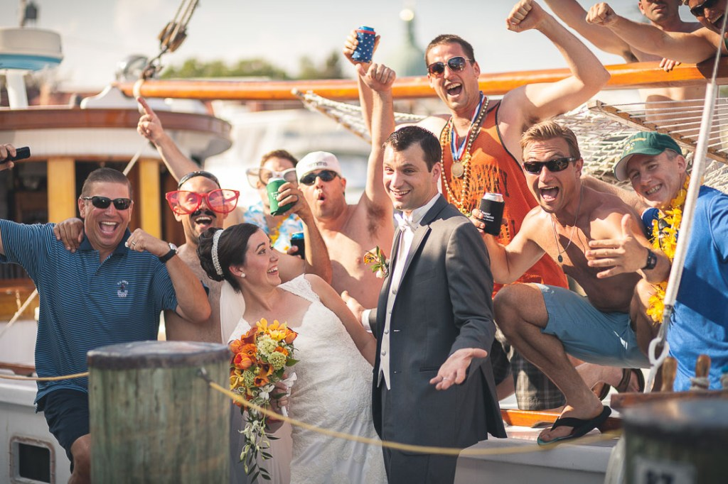 just-married-couple-boat-party-annapolis
