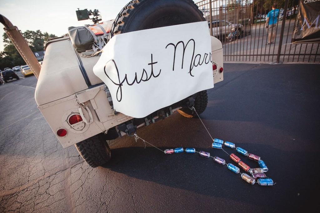 just-married-humvee