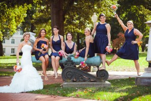 bridesmaids-posing-for-wedding-photo-at-naval-academy