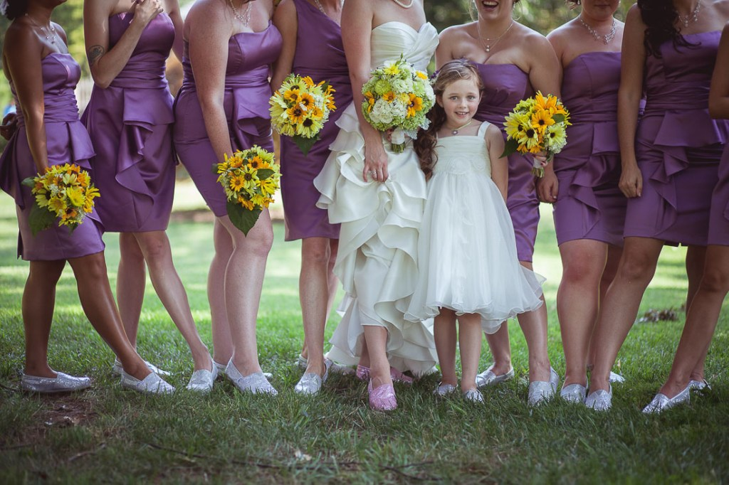 bridesmaids-in-flats-at-wedding