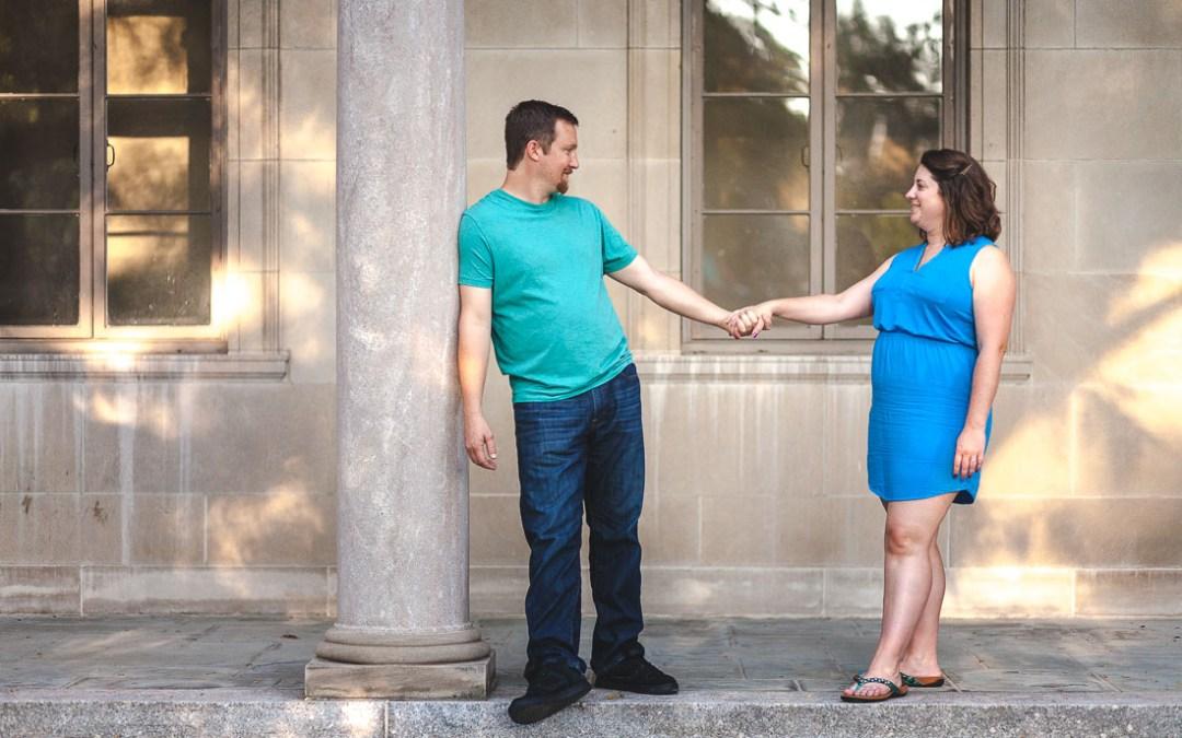 Chris & Lindsay's Engagement Session at Johns Hopkins University in Baltimore