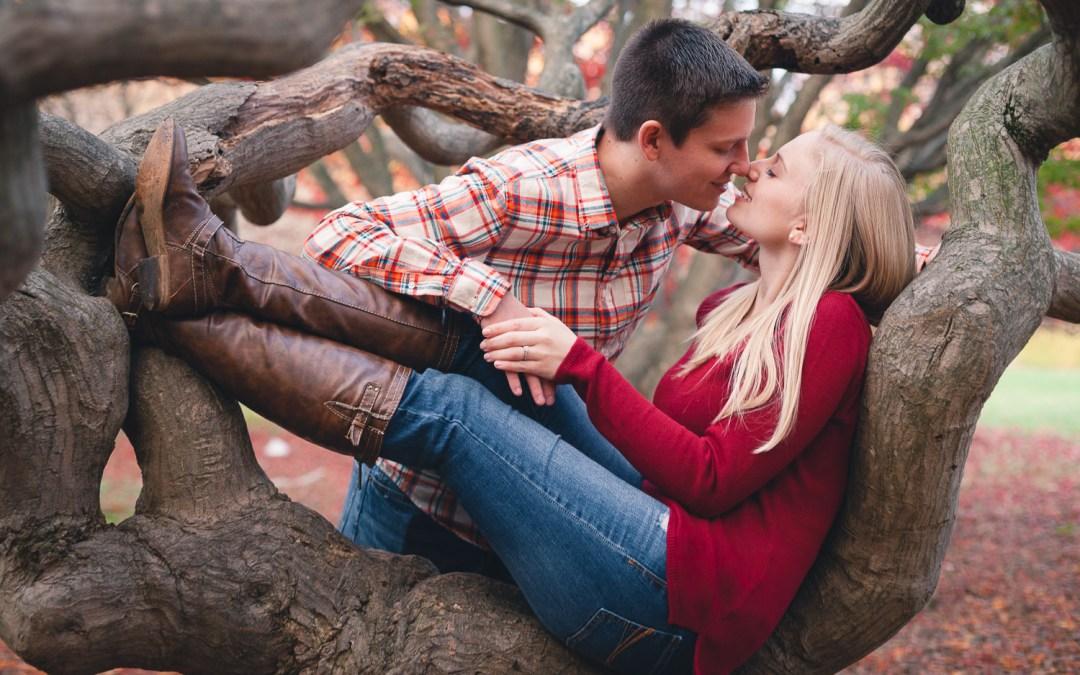 Chris & Amanda's Engagement Session at Cylburn Arboretum in Baltimore