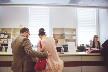 Signing elopement paperwork