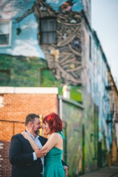 engagement session with murals and graffiti in baltimore 12