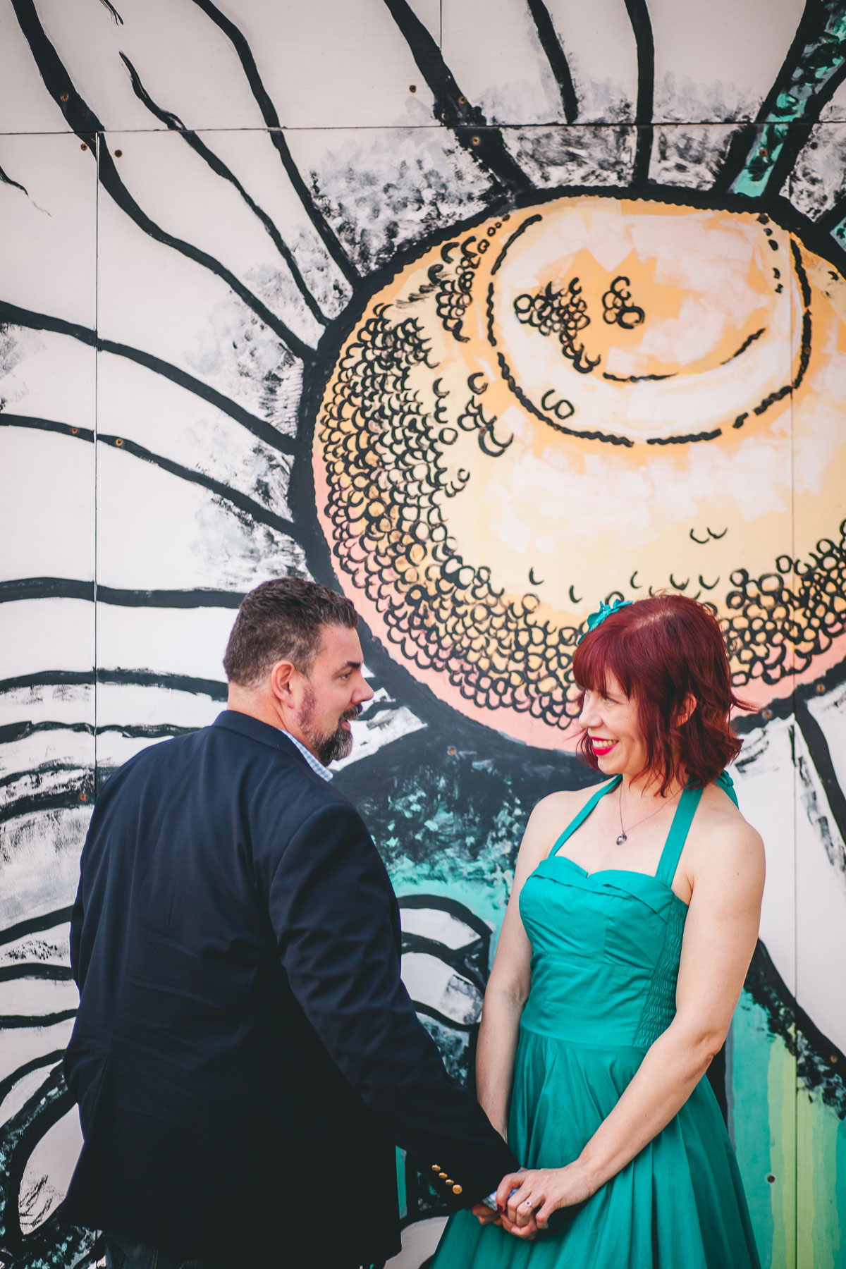 engagement session with murals and graffiti in baltimore 13