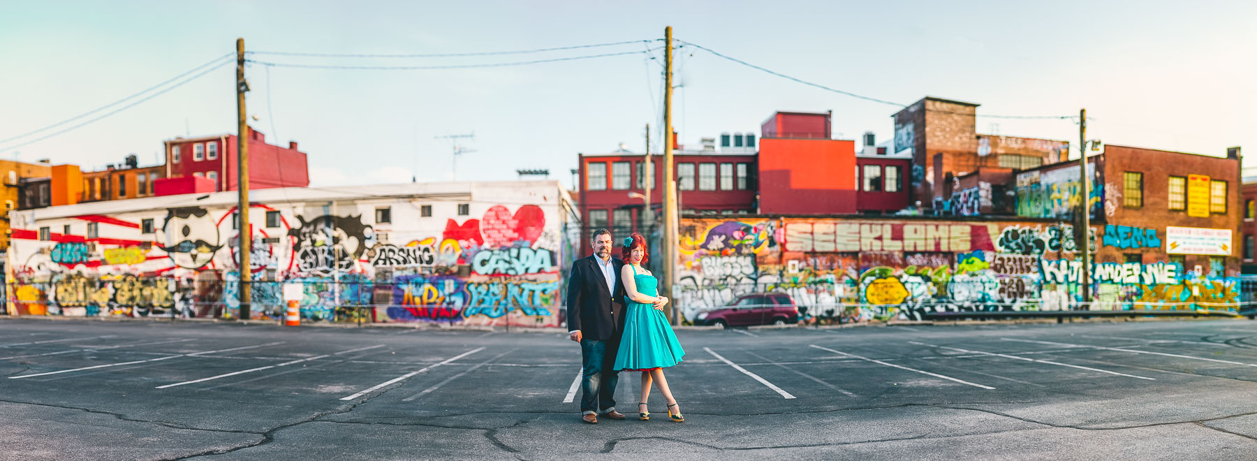 engagement session with murals and graffiti in baltimore 14