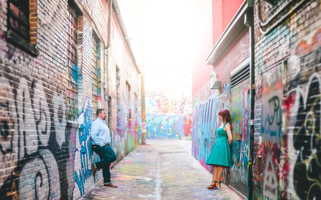Engagement Session Adventure with the Murals of Baltimore