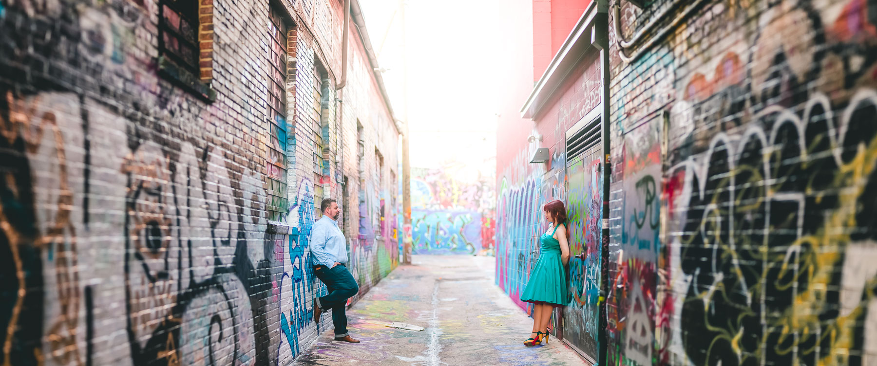 engagement session with murals and graffiti in baltimore 17