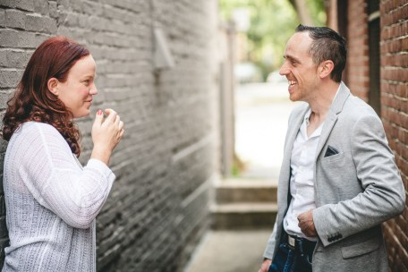 Coffee and murals engagement session in Annapolis petruzzo photography 14