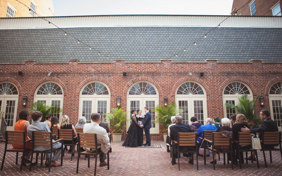 A Black Wedding Dress at Hotel Monaco in Old Town Alexandria
