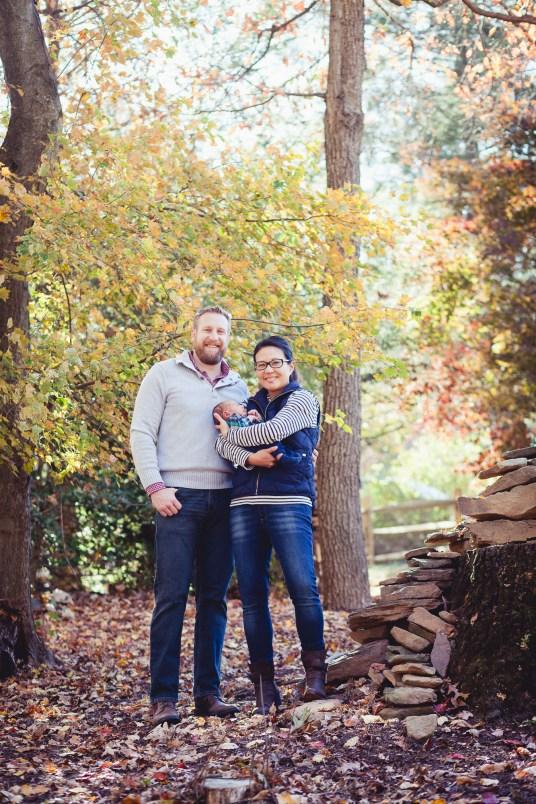A Newborn Family Forest Portrait 01