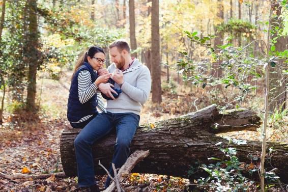 A Newborn Family Forest Portrait 11