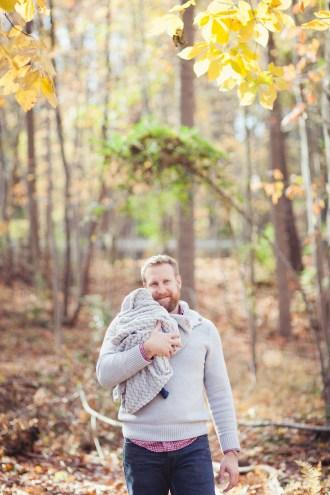 A Newborn Family Forest Portrait 15