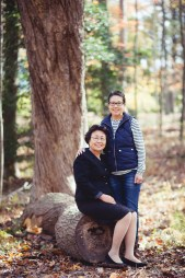 A Newborn Family Forest Portrait 16