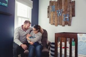 A Newborn Family Forest Portrait 20