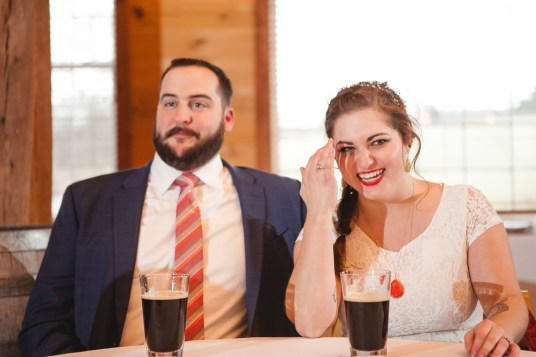 Bright Wedding On a Dreary Day at Linganor Wines 65