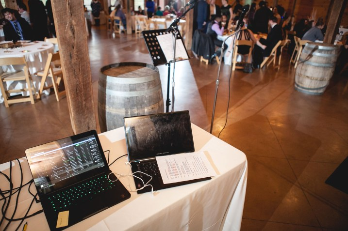 Bright Wedding On a Dreary Day at Linganor Wines 82