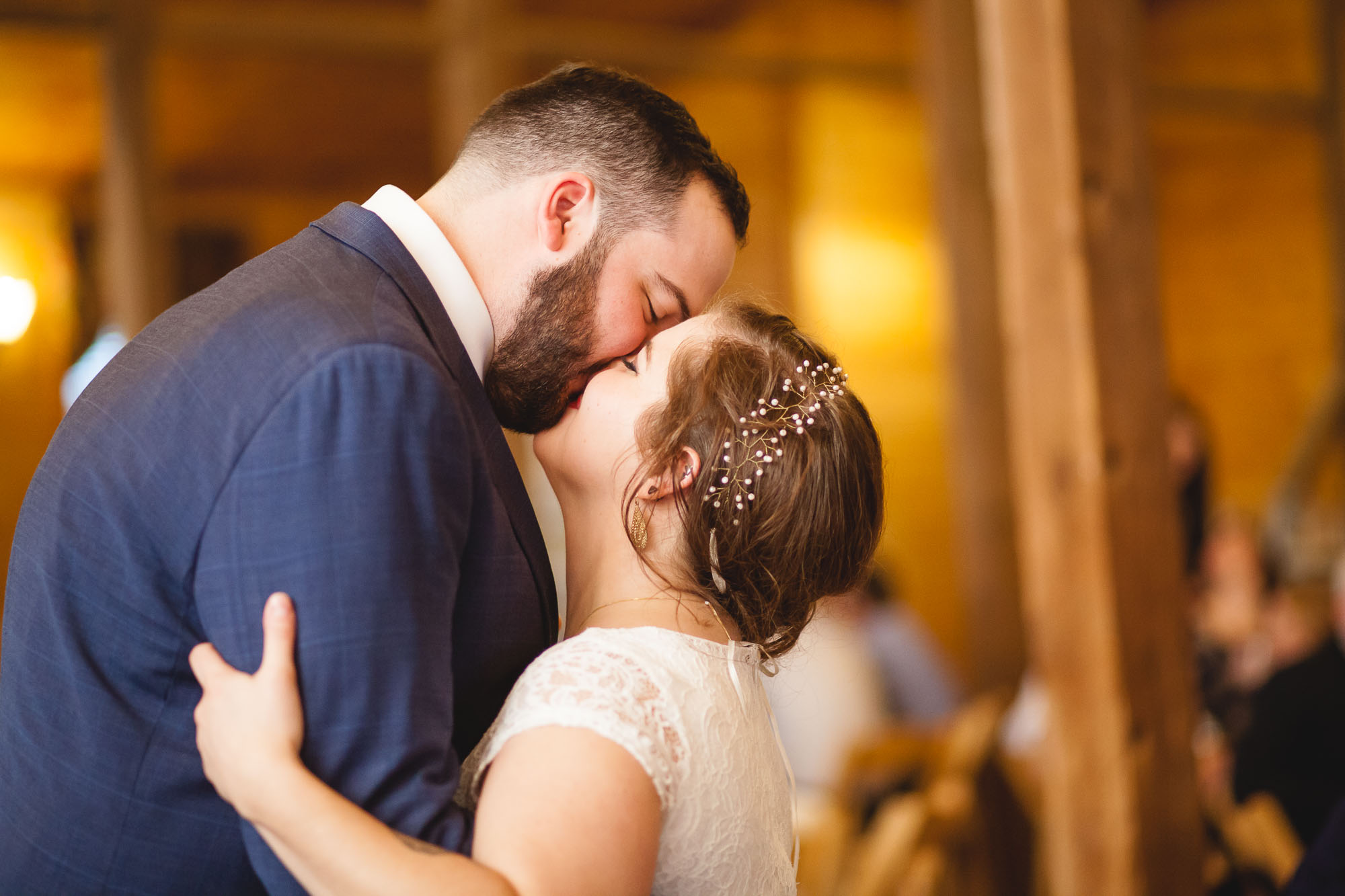 Bright Wedding On a Dreary Day at Linganor Wines 83