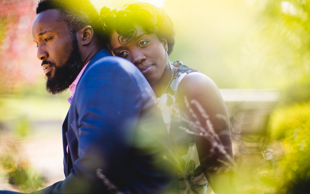 An Engagement Session at Quiet Waters Park With A Mix of Tradition