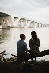 An Engagement Session Under the Woodrow Wilson Bridge Petruzzo Photography 08
