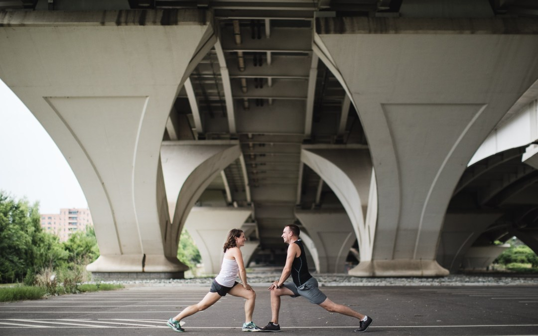An Engagement Session Under the Woodrow Wilson Bridge