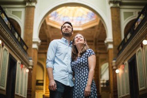 An Engagement Session Through the Halls of the National Portraits Gallery 10