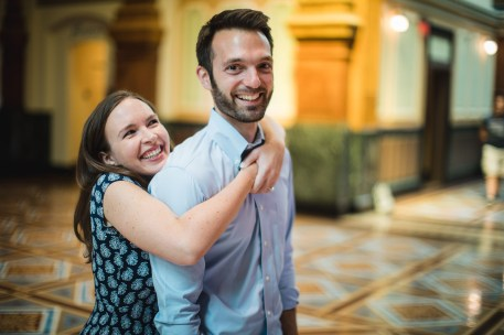 An Engagement Session Through the Halls of the National Portraits Gallery 11