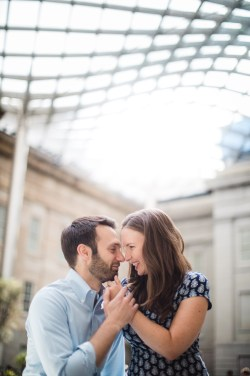 An Engagement Session Through the Halls of the National Portraits Gallery 20