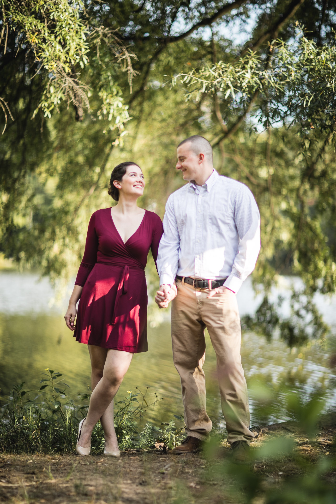 This Couple's Engagement Session in White & Maroon 08